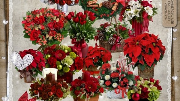 christmas baskets bouquet wreath