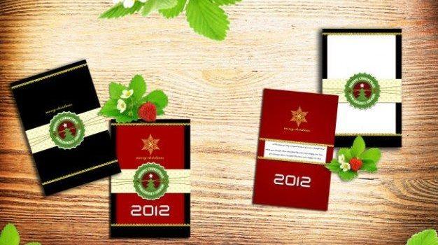 christmas greeting card psd layered material