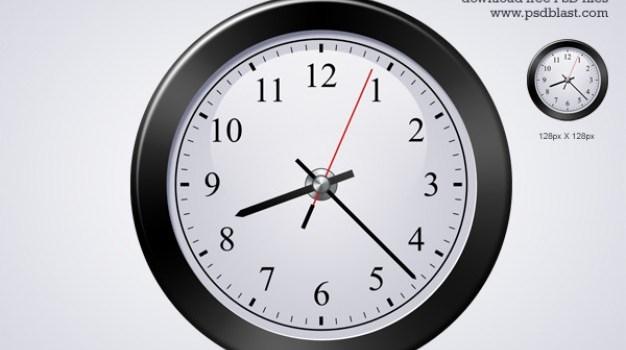 classic clock icon  psd