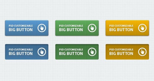 classic psd web buttons vol