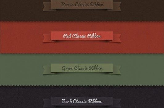 classic ribbon   psd layered material
