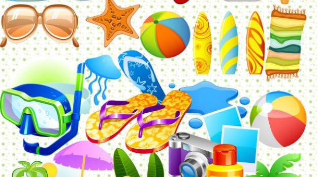 colorful summer psd layered material