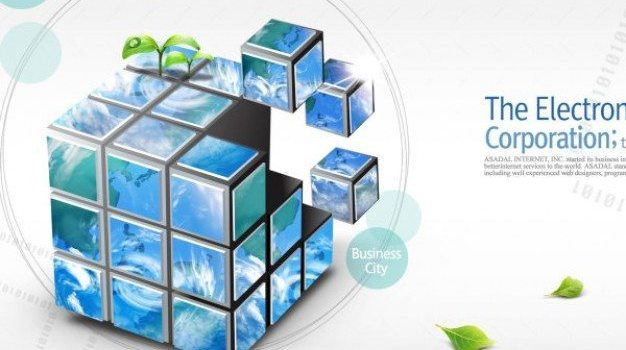 commerce department class  cube psd layered material