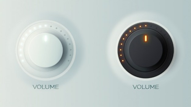 Control knobs in light and dark version