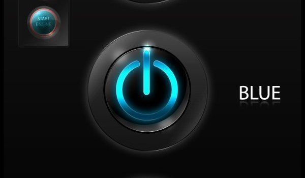 Cool power switch button icon PSD