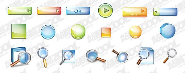 Cool stereo button topic icon PSD