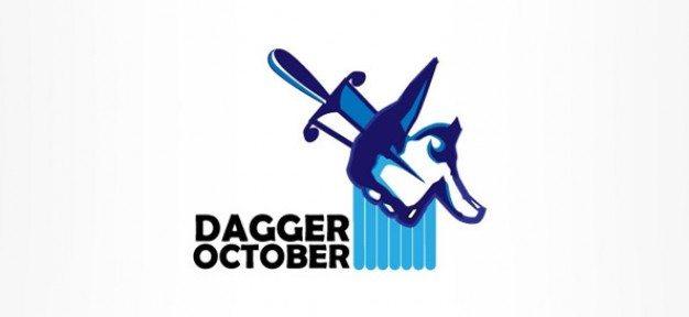 dagger logo design for music and entertainment