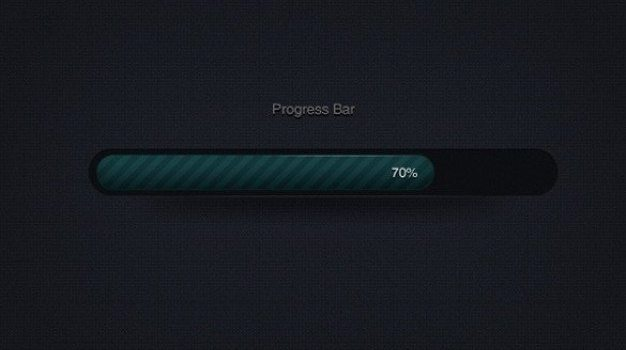 dark striped web ui progress bar psd