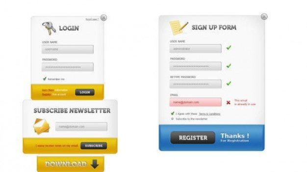 delicate web page login screen   psd layered material