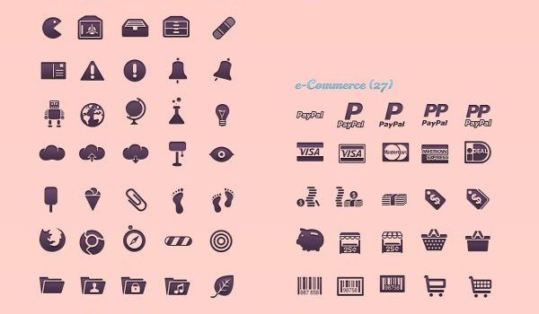 Exquisite range of UI icons PSD