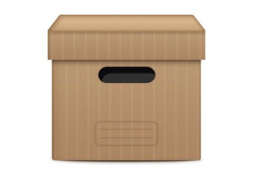 Files archive box PSD file