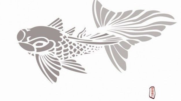 fish psd layered material
