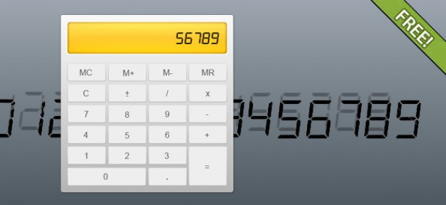 Free PSD Fully Layered Calculator
