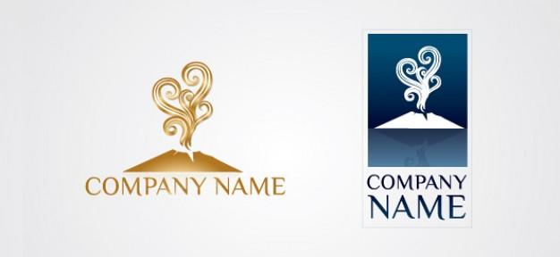 free volcano logo vector template