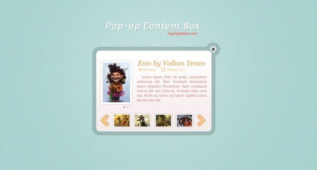 Funny content box with avatar