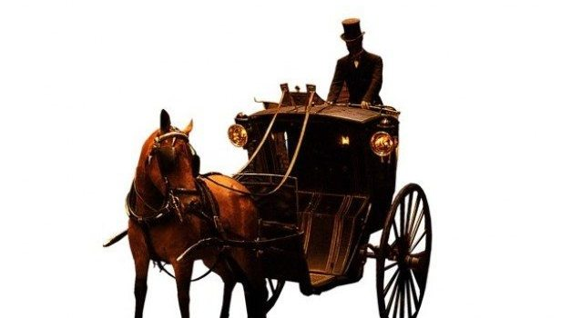 gorgeous european aristocratic carriage and servants