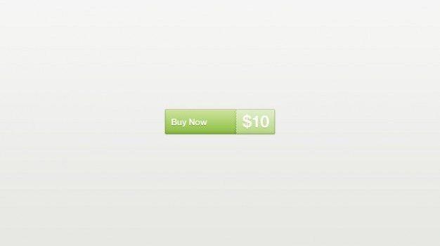 Green buy now button PSD