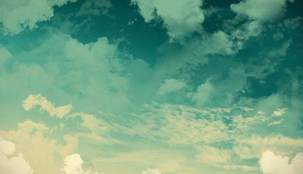 Grunge sky background, green clouds