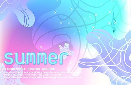 Korea style summer backgrounds layered PSD material 4