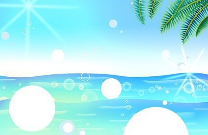 Korea style summer backgrounds layered PSD material 5