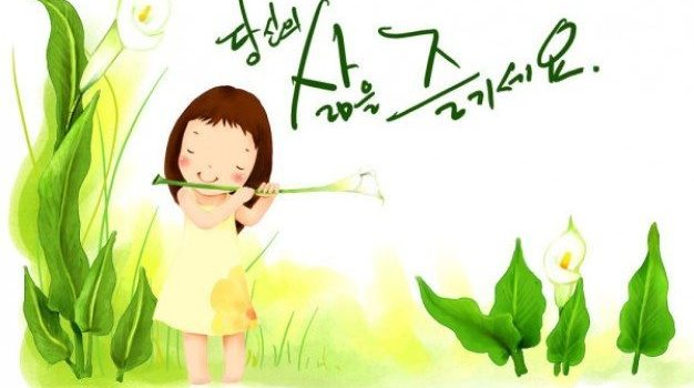 korean children illustrator psd material