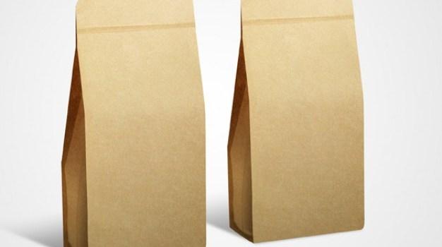 kraft paper bags psd layered material