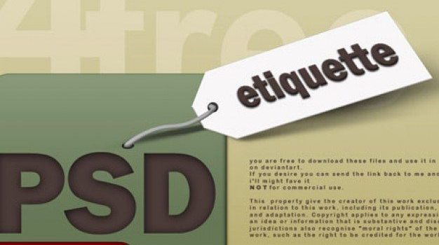label listing psd material