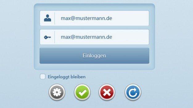 login register box psd