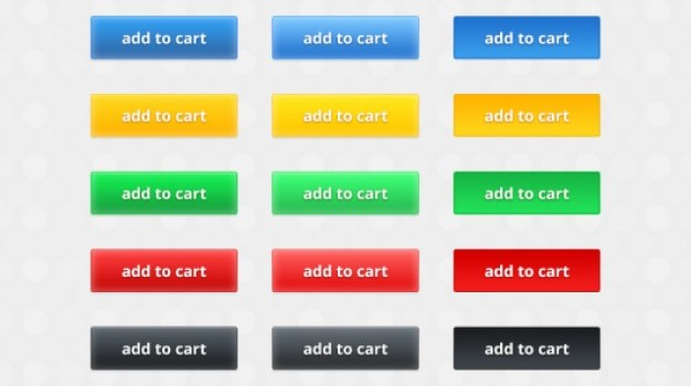 Multi colored buttons vector elements