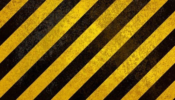 Yellow hazard stripes texture