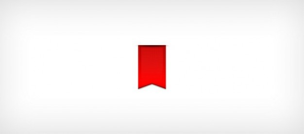 perfect red ribbon ui badge psd