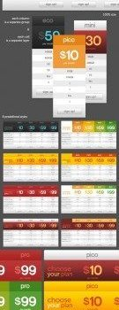 price display table psd material