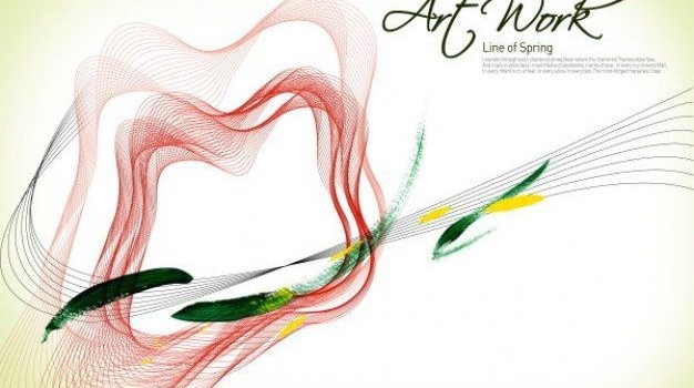 psd layered file of the floral art of lines and border
