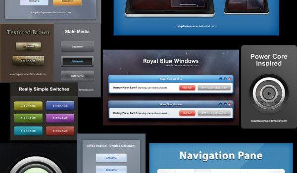 PSD layered material-beautiful Web design elements 02