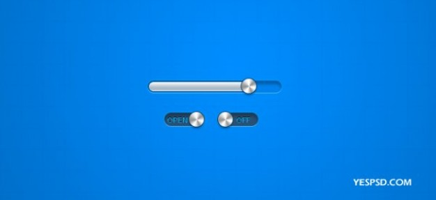 psd layered material of the metal texture of the progress bar button switch