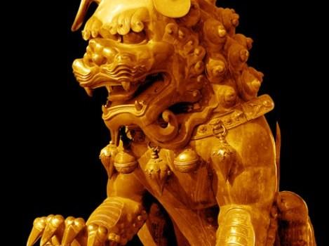 psd material of copper gilt lion