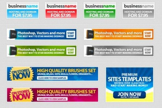 psd material of web advertising