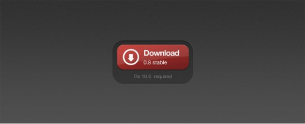 red black d download button psd
