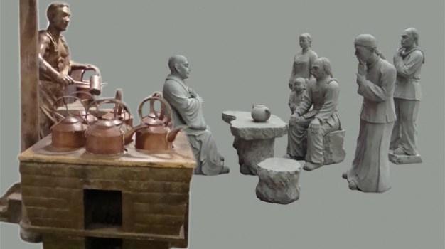 sculpture psd layered material
