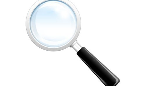 Search icon, PSD magnifying glass