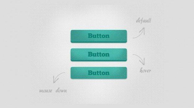 simple blue noise button set psd