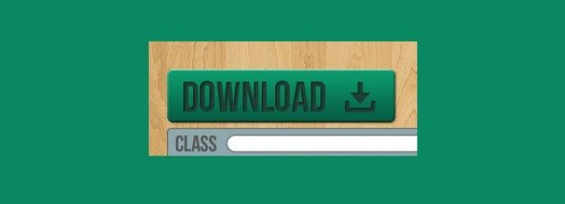 smooth green download button psd