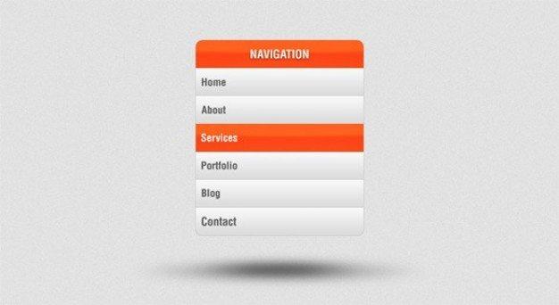 sweet vertical navigation menu psd
