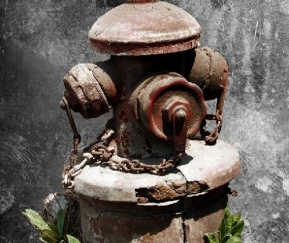 the old fire hydrant psd material