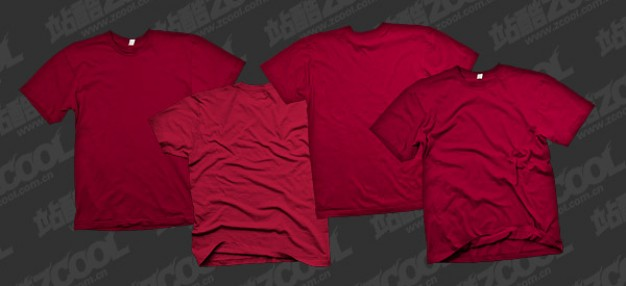 the tide of red blank t shirt templates psd layered material