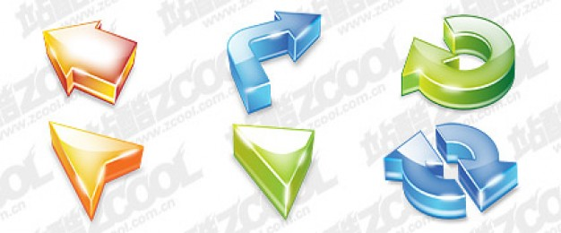 three dimensional arrow theme cool icon psd layered material