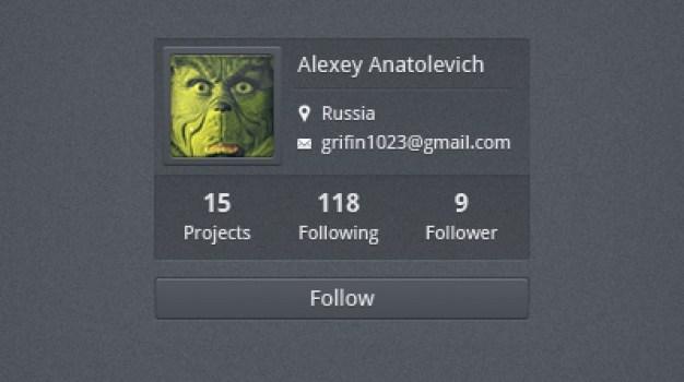 User profile to follow