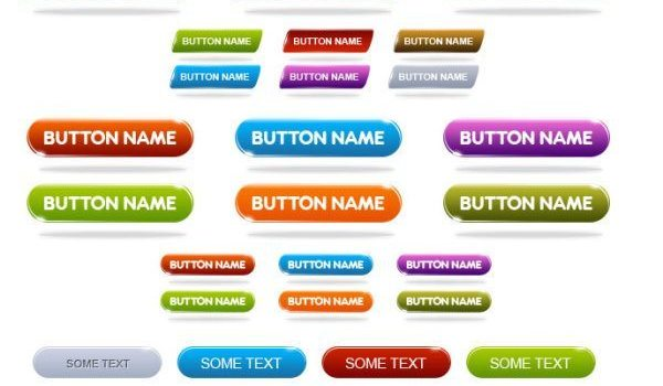 Variety of web 2.0 buttons PSD
