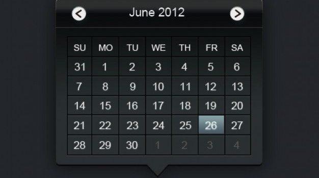 web calendar psd layered material