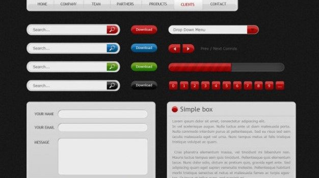 web design elements psd material